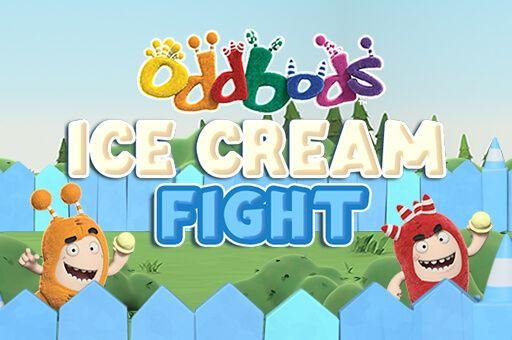 لعبة اودبوس حرب الايس كريم Oddbods Ice Cream Fight Kids Fight Play