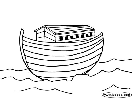 Noah Ark coloring page | Bible | Pinterest | The o'jays ...