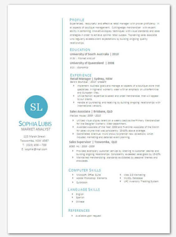 Modern Microsoft Word Resume Template Sophia Lubis by Inkpower - ms word resume
