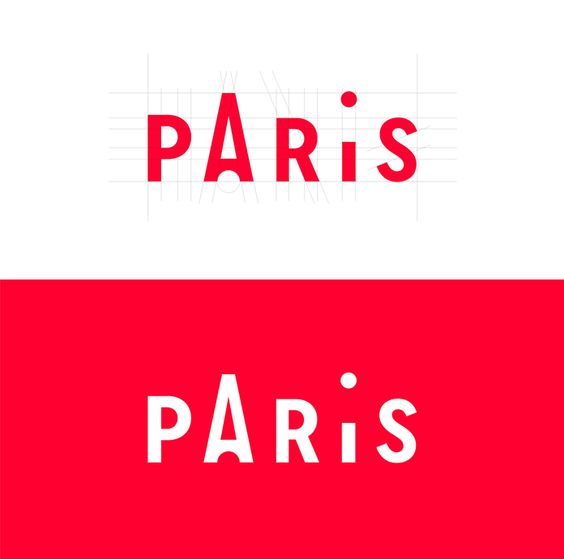Paris logotype for the tourist information center.