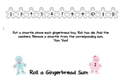 Here's a gingerbread themed game for practicing addition facts.