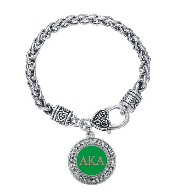 Alpha Kappa Alpha Chain Bracelet