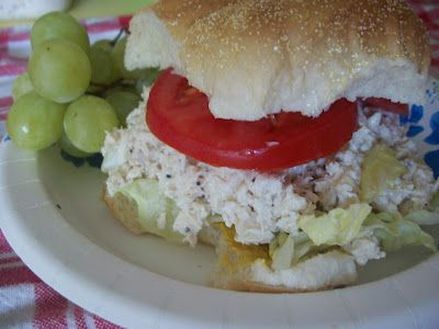Lark's Country Heart: Chicken Ceasar's Salad Sandwiches