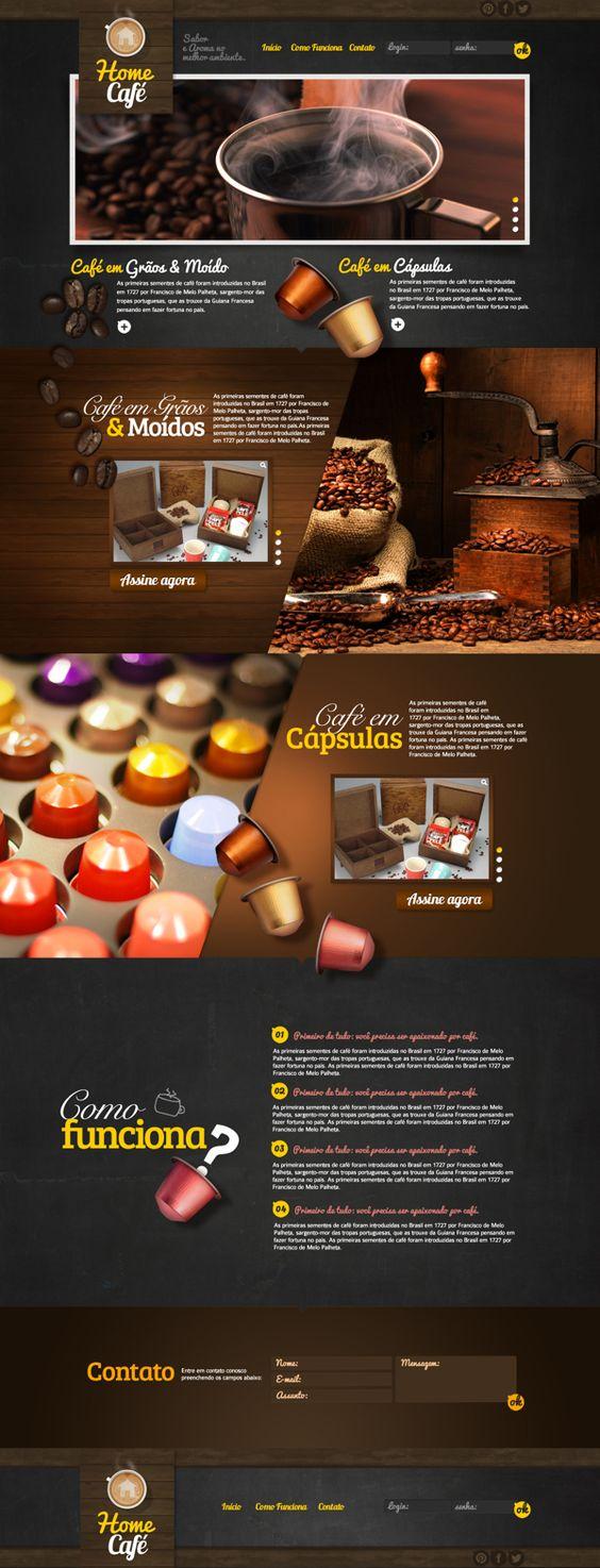 Home Café | Project Art Direction, Branding, Web Design
