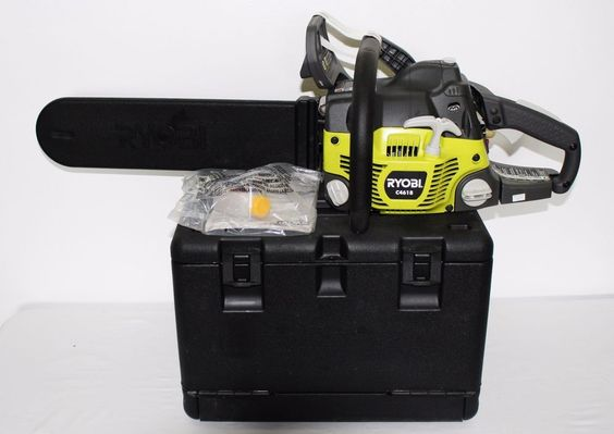 Ryobi 18 Inch 46cc 2-Cycle Gas Chainsaw C4618 Black Carrying Case New #Ryobi