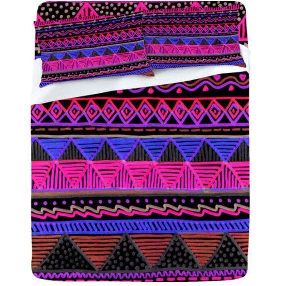 Cute tribal print bedding
