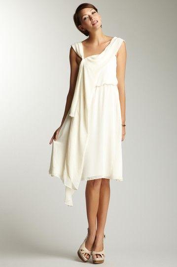 ADAM  Draped Grecian Dress  $89.00  City hall wedding...