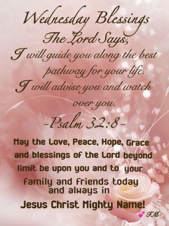 Wednesday Blessings Prayers