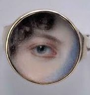 Eye painted on Ivory ring.