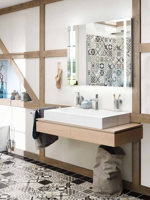 Highlight In Your Scandinavian Bathroom The Modern Talis Select Mixers Attract Attent Bathroom Design Scandinavian Bathroom Design Ideas Scandinavian Bathroom