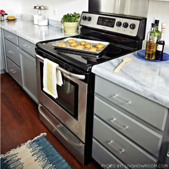 Kitchen Cabinets Kits: Slate Modern Kit - Nuvo Cabinet Paint