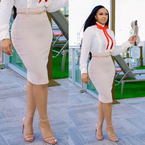 Aiko High Waist Skirt – Ms. Bling