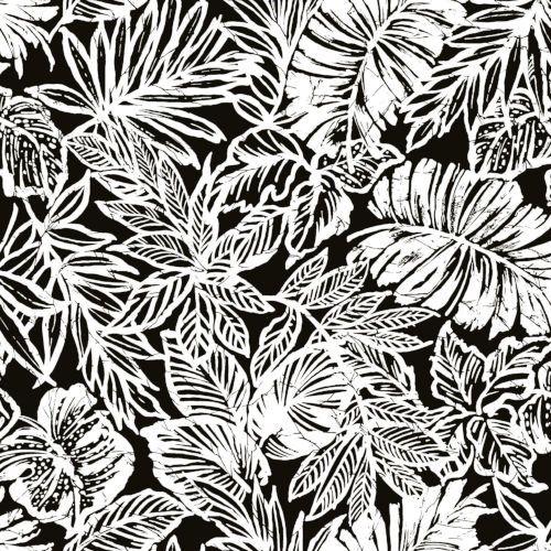 York Wallcoverings Rmk11439wp Batik Tropical Leaf Peel Stick Wallpaper In Black Transitional B Peel And Stick Wallpaper Tropical Leaves Peelable Wallpaper