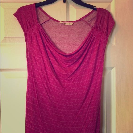 Old Navy pink shirt Short sleeved geometric pink shirt with cowl neck Old Navy Tops
