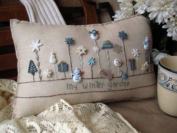 Mi almohada de jardín de invierno (estilo casa de campo)
