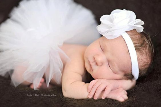 White Baby Holiday Tutu  Newborn Tutu  by ButterflyRoseCouture, $25.00
