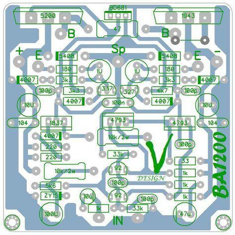 Pcb Driver Power Apex Ba1200 Dengan Gambar Rangkaian