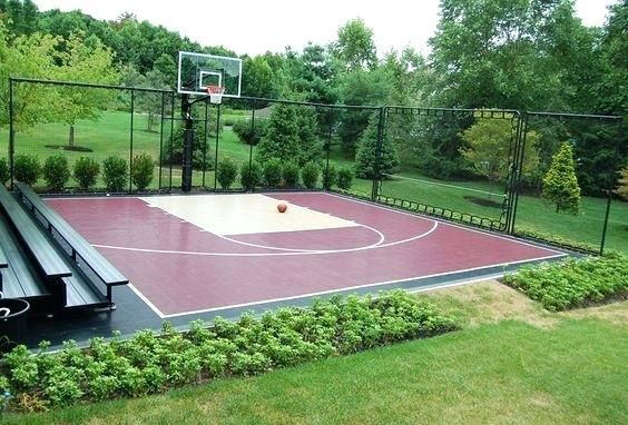 Backyard Basketball Court Ideas Backyard Basketball Court Ideas 5 Outside Basketball Court Basketball Court Backyard Backyard Basketball Home Basketball Court