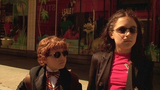 Daryl Sabara and Alexa Vega as Juni and Carmen Cortez in Spy Kids