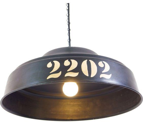 metall deckenlampe kolkata, industrial style / eisen & glaslampen
