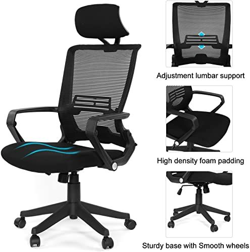 Chic Ergonomic Mesh Back Office Task Chair Molded Foam W