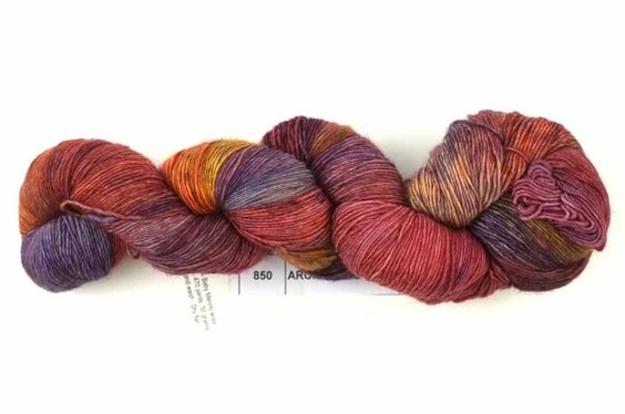 Malabrigo Lace yarn, Archangel, red, rose, russet, color 850, lace weight