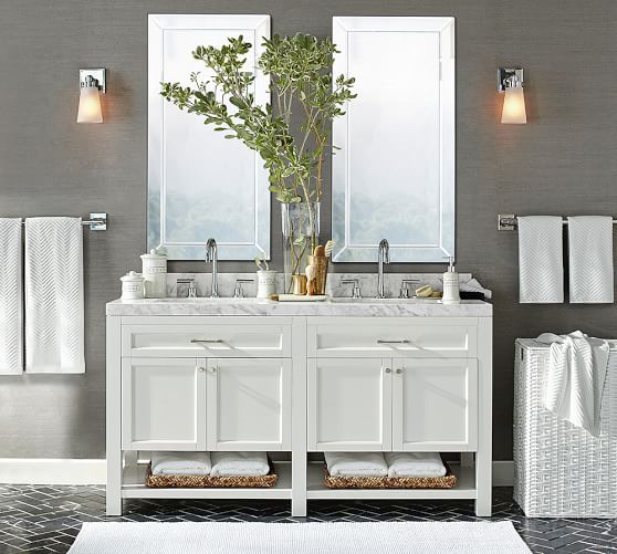 Piedmont 60 Double Sink Vanity In 2020 Bathroom Vanity Bathrooms Remodel Bathroom Redecorating