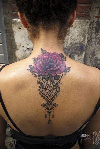 35 Beautiful Rose Tattoo Ideas For Women Girl Back Tattoos Tattoos Cover Tattoo
