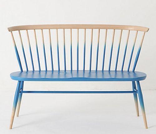 ombre stil möbel ideen - feine Sitzbank in zwei Farben