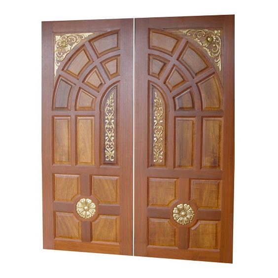 Wood carved front doors for reference kerala home main for Plain main door designs