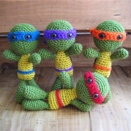 Ninja Amigurumi Free Pattern : Tortues ninja, les Tortues Ninja and Ninjas on Pinterest