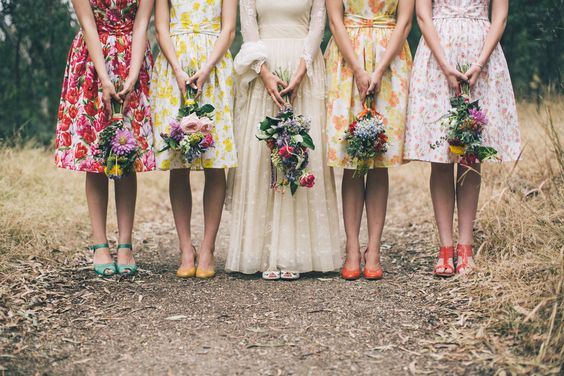 Floral mismatched babes