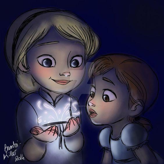 Anna & Elsa by Audrey Arini [©2014]