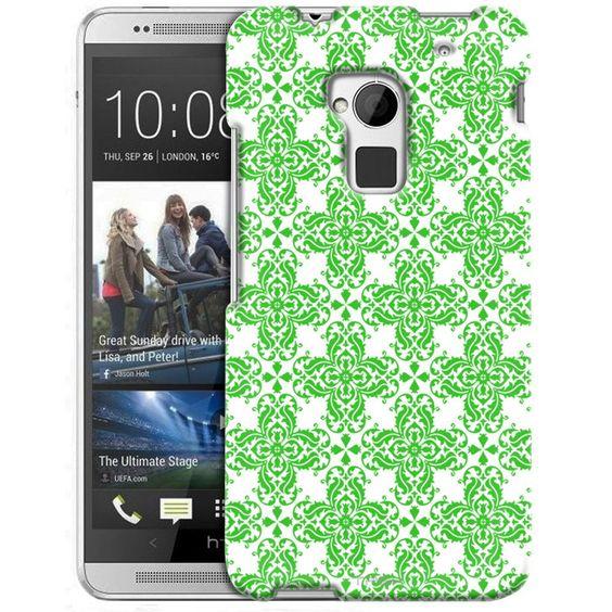 HTC One Max Victorian Retro Green on White Slim Case