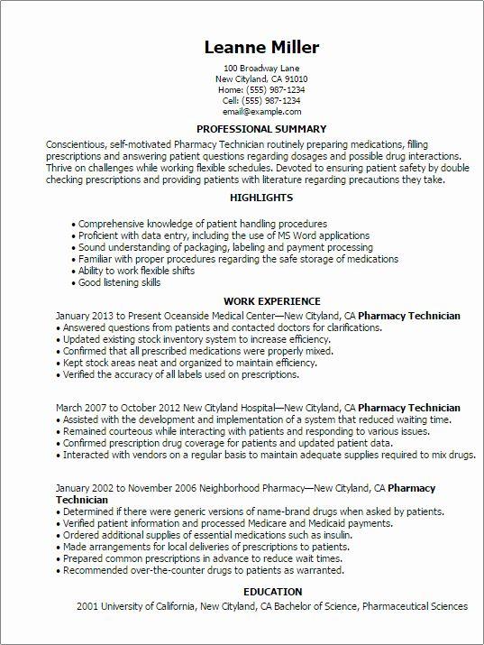 Pharmacy Tech Resume Samples Elegant Sample Pharmaceutical Data Entry Resume In 2020 Job Resume Samples Pharmacy Technician Medical Resume