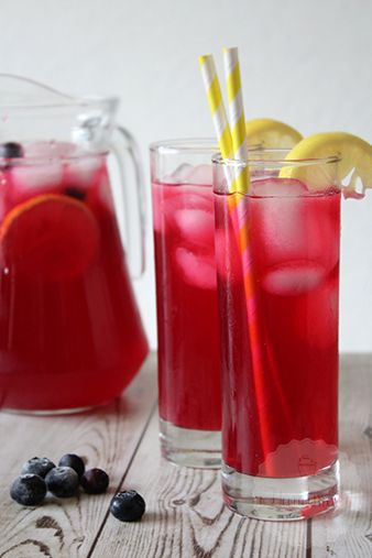 Blauwe bessen limonade – HandmadeHelen