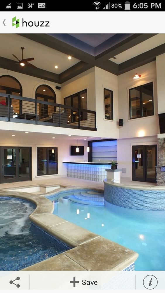 How Much Does It Cost To Build An Indoor Swimming Pool Cost To Build Indoor Pool Indoor Swimm Indoor Pool House Pool House Designs Indoor Swimming Pool Design