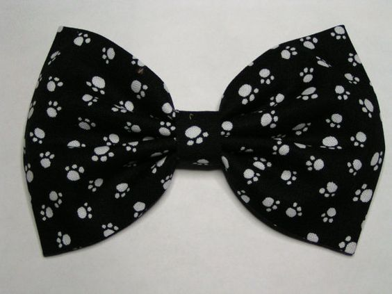 Paw print Hair Bow   Blue hair bow  Hair Bow by ClipaBowBoutique, $3.99