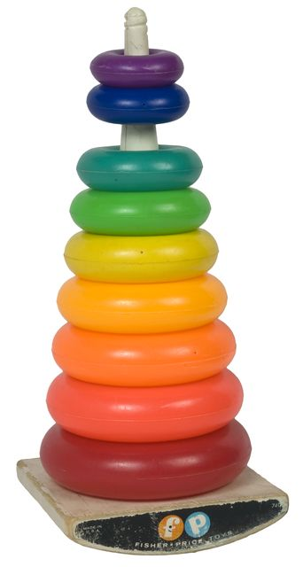 ring toy stacking vintage