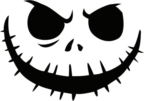 This is an image of Crazy Jack Skellington Pumpkin Stencil Printable