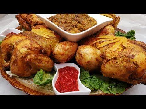 الدجاج المحمر بخلطة لذيذة معمر بحشوة ألذ طايب مباشرة في الفرن سهل للمبتدئات مرق مدغمر سريع التحضير Youtube Chicken Wings Food Chicken