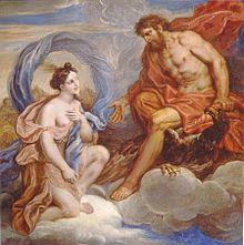 Iris: En la mitología griega, Iris (en griego Ιρις, 'arco iris') es hija de Taumante y de la oceánide Electra y hermana de las Harpías. En la Ilíada se la describe como mensajera de los dioses.