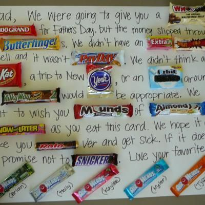 Candy Bar Letter to Dad {Fun Craft}