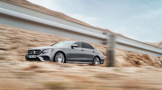 Side view of the new Mercedes-Benz E-Class.