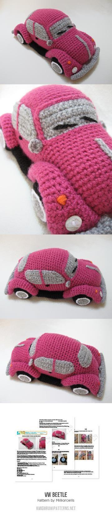 Amigurumi Beetle : VW (inspired) Beetle Bug amigurumi pattern by Millionbells ...