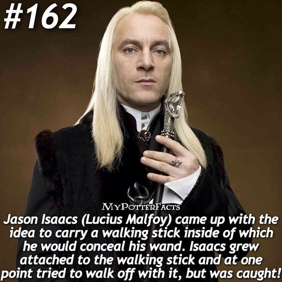 Hahaha oh Lucius! (but really Jason Isaacs) .  QOTD: What is your favorite item from Harry Potter? -@hpfashion934 @forevermaddy_
