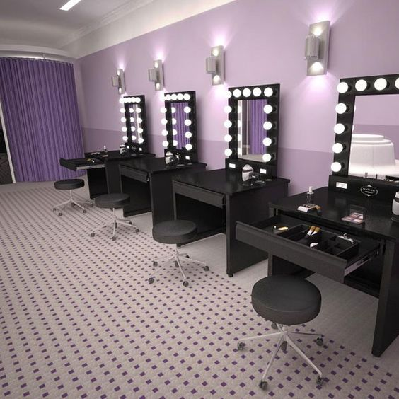 Glam makeup vanity for Makeup by tiffany d dining room