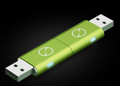 iTwin: easy to use double ended USB drive. We love this.