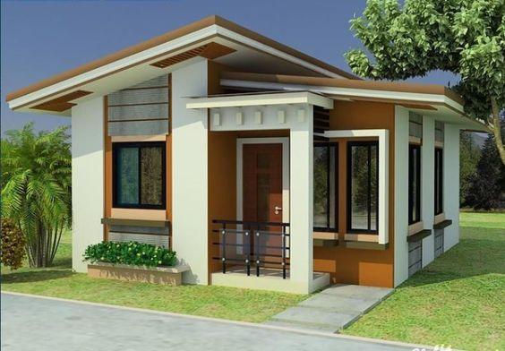 fehér, barna színű ház