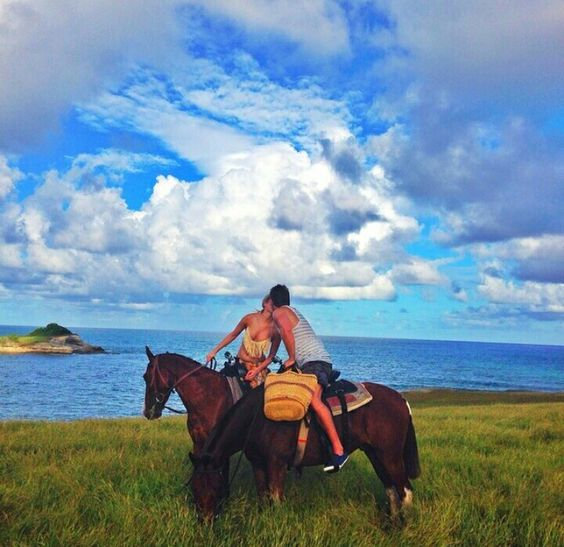 Honeymoon in St.Lucia. Horse riding with Atlantic Shores Riding Stables